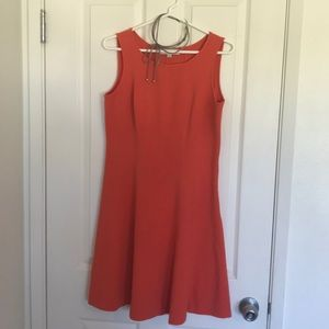 Burnt orange fit and flare dress size 6